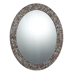 24-Inch Quoizel Mirror with Mosaic Band