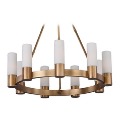 Maxim Lighting Contessa Natural Aged Brass Chandelier