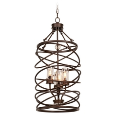 Kalco Lighting Eternity Etruscan Bronze Pendant Light with Cylindrical Shade