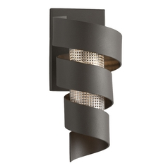 Troy Lighting Vortex Bronze with Painted LED Sconce