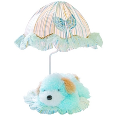 Lite Source Lighting Puppy Blue Table Lamp with Bowl / Dome Shade