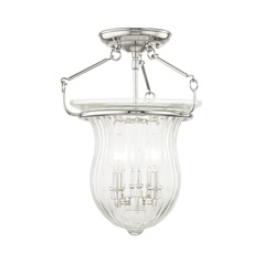Livex Lighting Andover Polished Nickel Semi-Flushmount Light