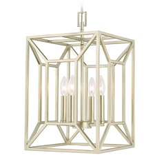 Capital Lighting Foyers Soft Gold Pendant Light with Rectangle Shade