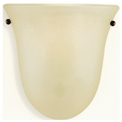 Sconce Wall Light with Beige / Cream Glass in Corinthian Bronze Finish