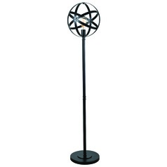 Kenroy Home Global Black Floor Lamp with Globe Shade