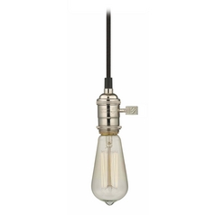 Bare Bulb Socket Mini-Pendant Light with Carbon Filament - 60-Watts