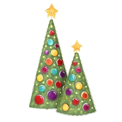 The Round Top Collection Christmas Tree Holiday Decorations - Set of Two C4082