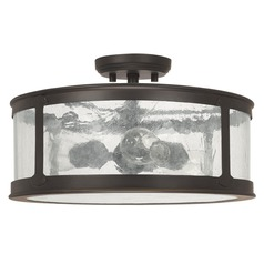Capital Lighting Dylan Old Bronze Close To Ceiling Light