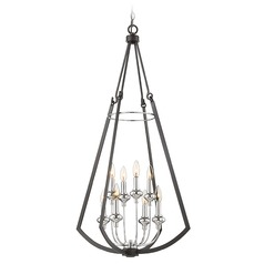 Savoy House Lighting Dinant Matte Black / Polished Chrome Pendant Light
