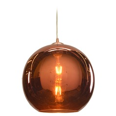Access Lighting Glow Brushed Copper LED Pendant Light with Bowl / Dome Shade
