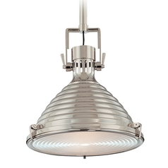 Modern Pendant Light in Polished Nickel Finish