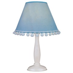 Lite Source Lighting Pompom White Accent Lamp