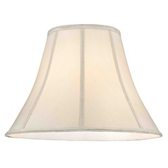 Eggshell Silk Bell Lamp Shade with Spider Assembly