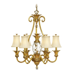 Hinkley 7-Light Chandelier in Burnished Brass