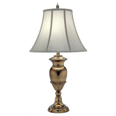 Stiffel Lighting Burnished Brass Table Lamp with Bell Shade