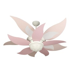 Craftmade Lighting Bloom White Ceiling Fan with Light
