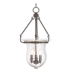 Livex Lighting Andover Bronze Pendant Light with Fluted Shade