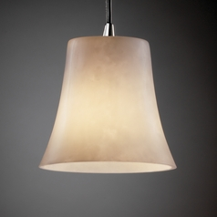 Justice Design Group Clouds Collection Mini-Pendant Light