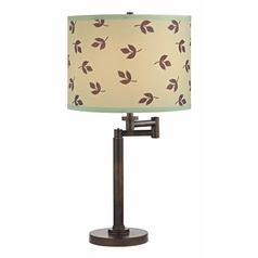 Design Classics Lighting Modern Swing Arm Lamp with Green Shade in Bronze Finish 1902-1-604 SH9488