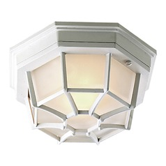Craftmade Lighting Bulkhead Matte White Close To Ceiling Light