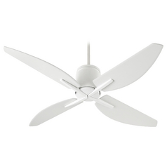 Quorum Lighting Kai Studio White Ceiling Fan Without Light