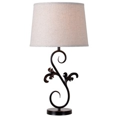 Kenroy Home Kota Oil Rubbed Bronze Table Lamp with Empire Shade