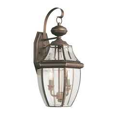 Sea Gull Lighting Lancaster Antique Bronze LED Outdoor Wall Light