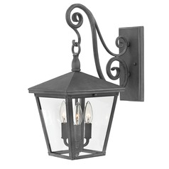 Aged Zinc LED Outdoor Wall Light by Hinkley Lighting