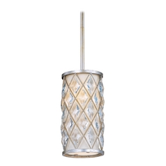 Maxim Lighting Diamond Golden Silver Mini-Pendant Light with Cylindrical Shade