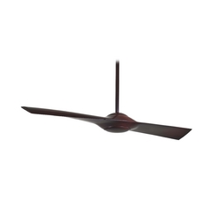 Modern Ceiling Fan Without Light in Mahogany Finish