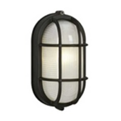 Galaxy / Excel Lighting Marine Oval Bulkhead Outdoor Wall Light 305014 BK