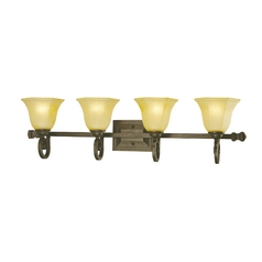 Dolan Designs Lighting Four-Light Vanity Light with Octagonal Shades 4774-34