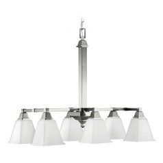 Sea Gull Lighting Denhelm Brushed Nickel Pendant Light with Square Shade