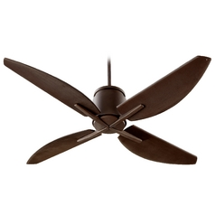 Quorum Lighting Kai Oiled Bronze Ceiling Fan Without Light