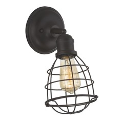 Industrial Sconce Bronze Scout by Savoy House