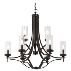 Minka Lavery Elyton Downton Bronze with Gold Highlight Chandelier