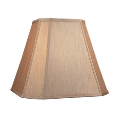 Large Cut Corner Square Gold Beige Lamp Shade