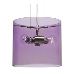 Besa Lighting Pahu Satin Nickel Pendant Light