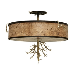 Kalco Lighting Oakham Bronze Gold Semi-Flushmount Light