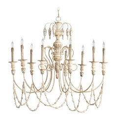 Cyan Design Florine Persian White & Mystic Silver Chandelier