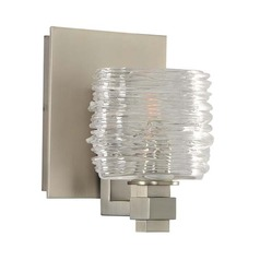 Kalco Clearwater Satin Nickel Sconce
