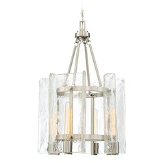 Savoy House Lighting Handel Satin Nickel Pendant Light with Cylindrical Shade