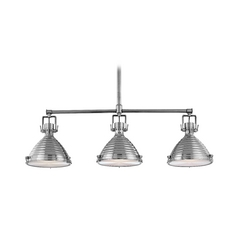 Modern Island Light in Antique Nickel Finish