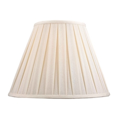 Pleated Lamp Shade in White Linen