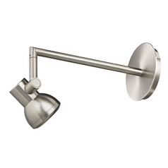 Recesso Satin Nickel Curved GU10 Menu Light