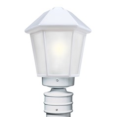 Frosted Glass Post Light White Costaluz by Besa Lighting