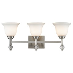 Golden Lighting Waverly Pw Pewter Bathroom Light