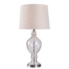 Kenroy Home Perry Brushed Steel Accents Table Lamp with Empire Shade