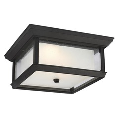 Feiss Lighting Mchenry Textured Black LED Close To Ceiling Light