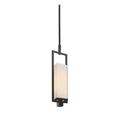 Modern Mini-Pendant Light with White Shade